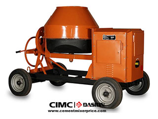 Tilting type concrete mixer