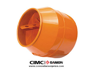 Plastic concrete mixer drum
